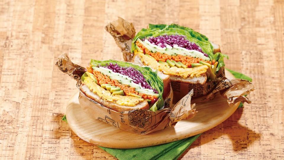 野菜たっぷりベジタブルサンドイッチ