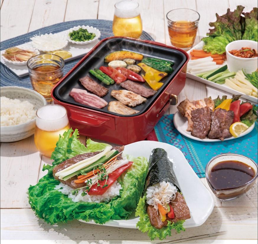 野菜と一緒に!<br>お肉の手巻き寿司